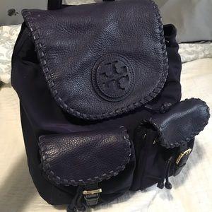 Dark Purple Tory Burch Backpack